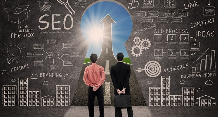 Business partners and SEO
